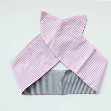Ozdoby do vlasov - Vintage šatka do vlasov Fine stripes - 9839955_