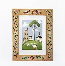 Rámiky - Maľovaný rámček - Fairy tale (13x18 cm) - 9840326_
