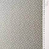 Textil - sivé trojuholníčky, 100 % bavlna Francúzsko, šírka 160 cm - 9838952_