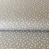 Textil - sivé trojuholníčky, 100 % bavlna Francúzsko, šírka 160 cm - 9838954_