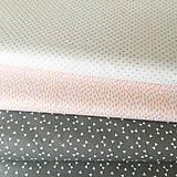 Textil - sivé trojuholníčky, 100 % bavlna Francúzsko, šírka 160 cm - 9838955_