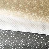 Textil - sivé trojuholníčky, 100 % bavlna Francúzsko, šírka 160 cm - 9838956_