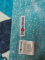 Úžitkový textil - Detská moderná deka vzor hexagon - 9839449_