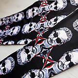 Nohavice - Farebné elastické legíny s motívom autorského obrazu: Dave Gahan (DM) - 9839089_