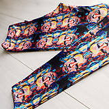 Nohavice - Farebné elastické legíny s motívom autorského obrazu: Martin Gore (DM) - 9839099_