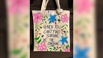 Iné tašky - ♥ Plátená, ručne maľovaná taška ♥ - 9840020_