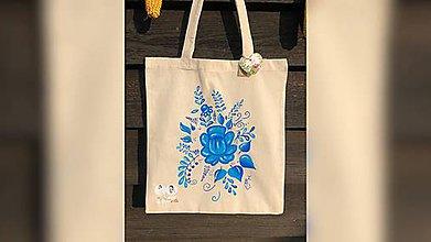 Nákupné tašky - ♥ Plátená, ručne maľovaná taška ♥ - 9840100_