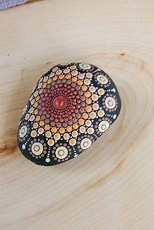 Dekorácie - Hnedomedený - Na kameni maľované - 9840937_