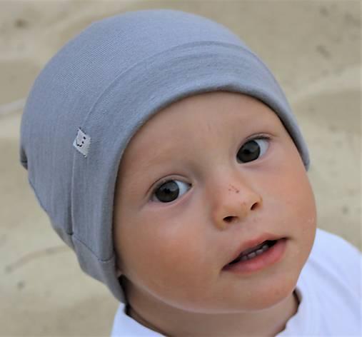 b4513bfdb Detská rastúca merino čiapka so štýlovým uzlíkom - šedá (38 ...