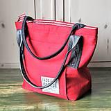 Veľké tašky - Ľanová sýto-červená taška - 9838841_