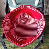 Veľké tašky - Ľanová sýto-červená taška - 9838844_