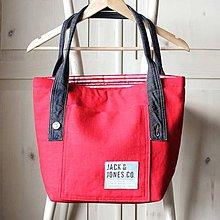 Veľké tašky - Ľanová sýto-červená taška - 9838840_