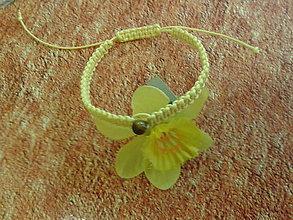 Náramky - Žltý ochranný náramok - blíženci - 9839084_