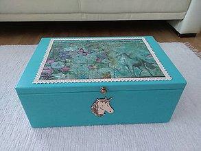 Krabičky - Box na hračky jednorozec - 9839529_
