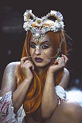 Ozdoby do vlasov - Koruna posadená na hrebienkoch z kolekcie Mermaid dream - 9838780_