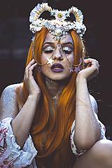 Ozdoby do vlasov - Koruna posadená na hrebienkoch z kolekcie Mermaid dream - 9838782_