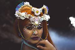 Ozdoby do vlasov - Koruna posadená na hrebienkoch z kolekcie Mermaid dream - 9838787_