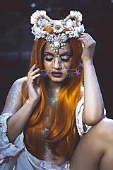 Ozdoby do vlasov - Koruna posadená na hrebienkoch z kolekcie Mermaid dream - 9838788_