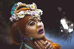 Ozdoby do vlasov - Koruna posadená na hrebienkoch z kolekcie Mermaid dream - 9838789_