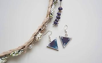 Náušnice - Náušnice trojuholník - 9841216_