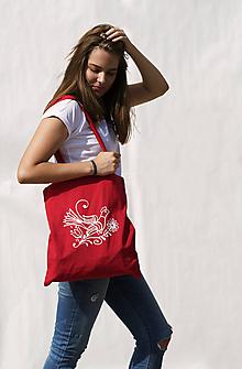 Nákupné tašky - Nákupná taška červenô - 9841237_