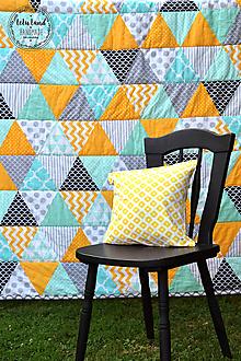 """Úžitkový textil - Prehoz na manželskú posteľ """"trojuholníky"""" - 9840508_"""