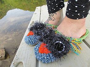 Obuv - papuče sova číslo 36-38 - 9841050_