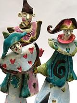 klaun figúrka socha