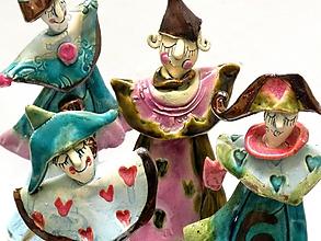 Dekorácie - klaun socha figúrka veľkosť S - 9839755_