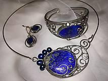 """Sady šperkov - Set šperkov - náhrdelník, náramok, náušnice - """"Kráľovská modrá"""" - 9838744_"""