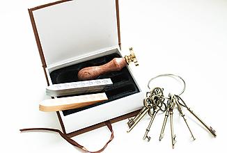 Pomôcky/Nástroje - Vlastné pečatidlo, darčeková sada - 9839050_