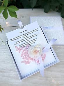 Papiernictvo - Poďakovanie rodičom v krabičke Pink - 9840412_