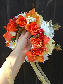 Ozdoby do vlasov - Jesenná parta oranžová - 9839873_