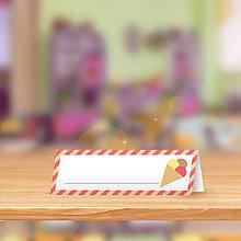 Papiernictvo - Minimalistická menovka do lavice pre prváčikov - zmrzlinka - 9838906_