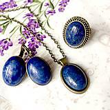 Vintage Bronze Lapis Lazuli Set / Set šperkov s lapisom lazuli /0078