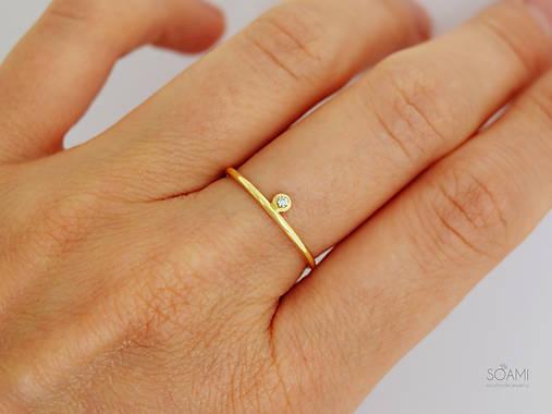 a40eabacb 585/14k zlatý zásnubný prsteň s prírodným diamantom SI1, E-F (ružové zlato)
