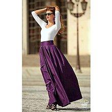 Sukne - Taftová spoločenská sukňa-fialová - 9841380_