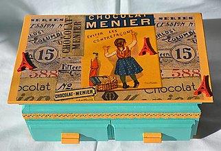 """Krabičky - Šperkovnica + zrkadlo """"Confiserie de Paris"""" - IHNEĎ K ODOSLANIU !!! - 9844055_"""