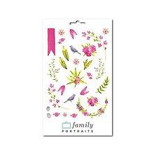Papier - Farebné nálepky Kvetiny - 9843220_