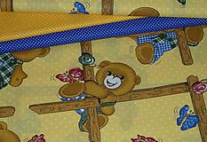 Textil - Látka Macko a motýle - 9842867_