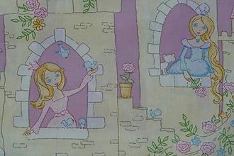 Textil - Látka Princezné na zámku - 9842764_