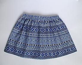 """Detské oblečenie - folklórna sukňa z """"modrotlače"""" 30 cm - 9842381_"""