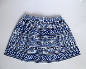 Detské oblečenie - folklórna sukňa z