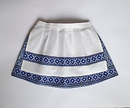Detské oblečenie - zásterka 26 cm (k folklórnej sukni 30 cm) - 9842464_