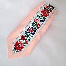 Doplnky - kravata folk svetloružová - 9843487_