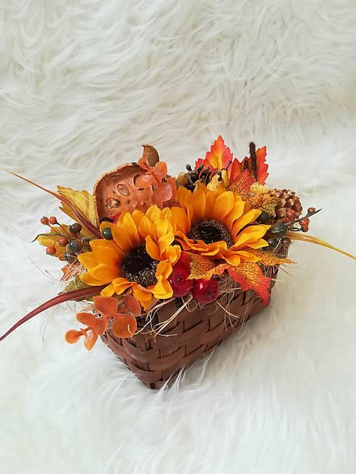 Jesenná dekorácia v košíčku   Samireli - SAShE.sk - Handmade Dekorácie 851cac0eb4e