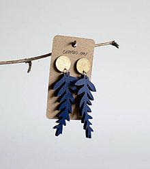 Náušnice - sinokvet v modrej - 9842561_
