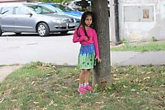 Detské oblečenie - Detská batikovaná suknička s kvetinkami - 9842103_
