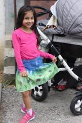 Detské oblečenie - Detská batikovaná suknička s kvetinkami - 9842104_