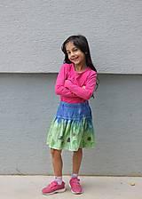 Detské oblečenie - Detská batikovaná suknička s kvetinkami - 9842105_
